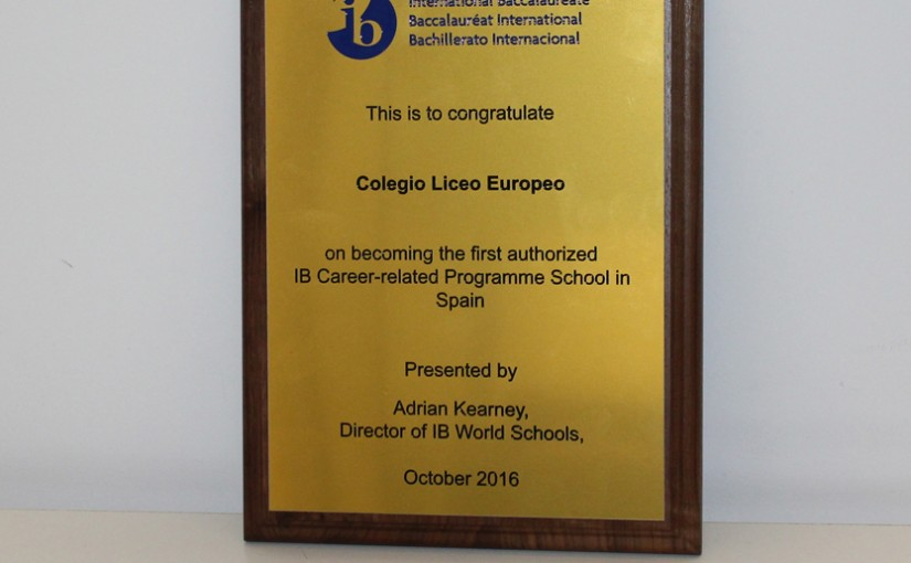 Primer Colegio de España autorizado para impartir el Programa de Orientación Profesional del IB